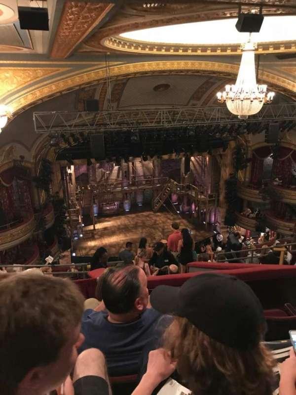 Richard Rodgers Theatre, secção: Rear Mezzanine L, fila: G, lugar: 11