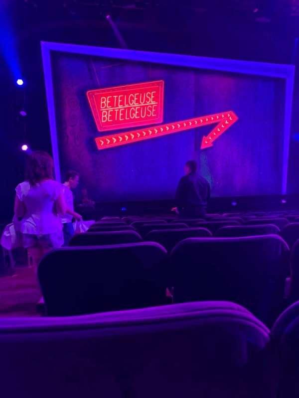 Winter Garden Theatre, secção: Orchestra C, fila: M, lugar: 118