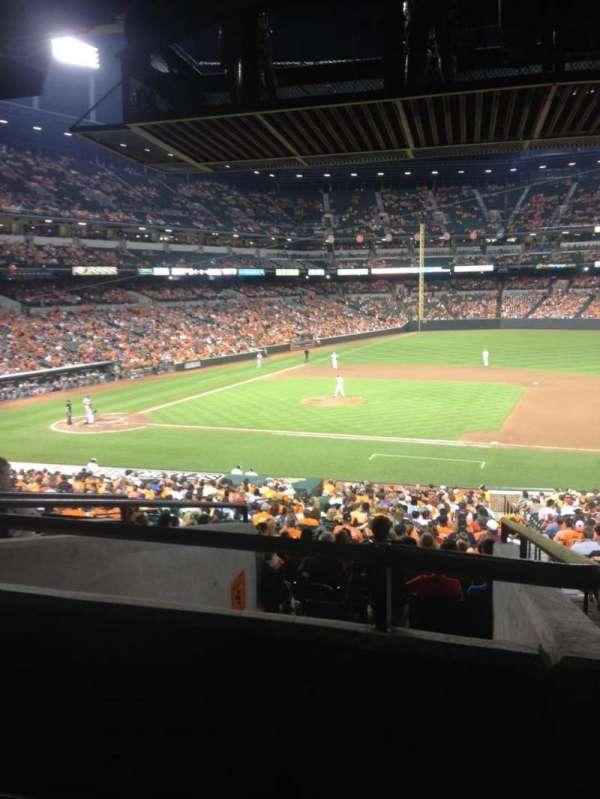 Oriole Park at Camden Yards, secção: 19, fila: 7
