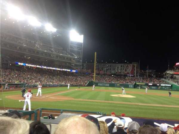 Nationals Park, secção: 128, fila: K