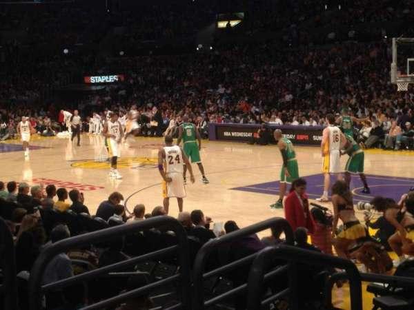 Staples Center, secção: 108, fila: 7, lugar: 18