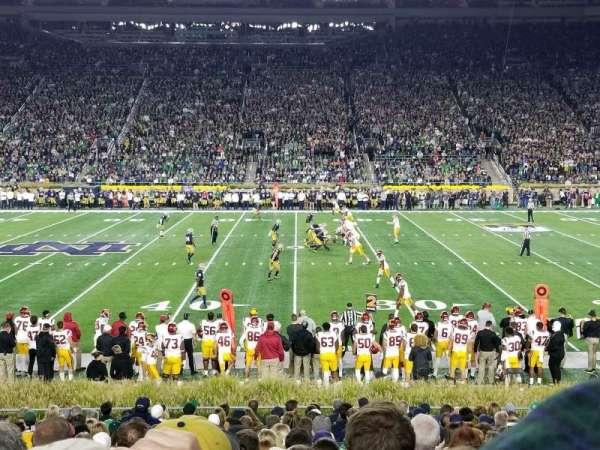 Notre Dame Stadium, secção: 9, fila: 27, lugar: 14