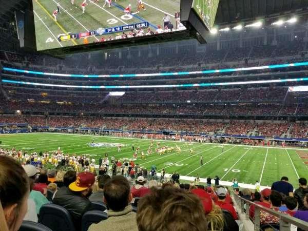 AT&T Stadium, secção: C132, fila: 20, lugar: 1
