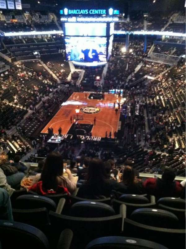 Barclays Center, secção: 215, fila: 9, lugar: 6