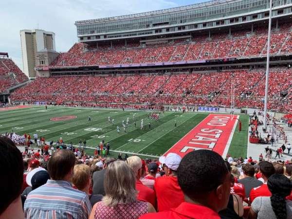 Ohio Stadium, secção: 14A, fila: 24, lugar: 8