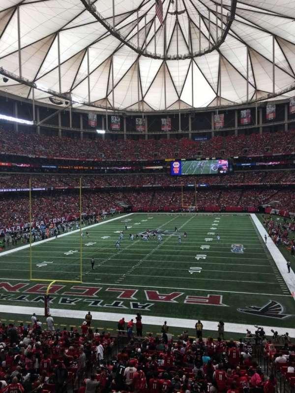Georgia Dome, secção: 233, fila: 1, lugar: 12