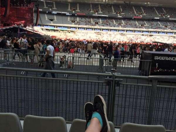 Stade De France, secção: S7, fila: 3 (front row, lugar: 18