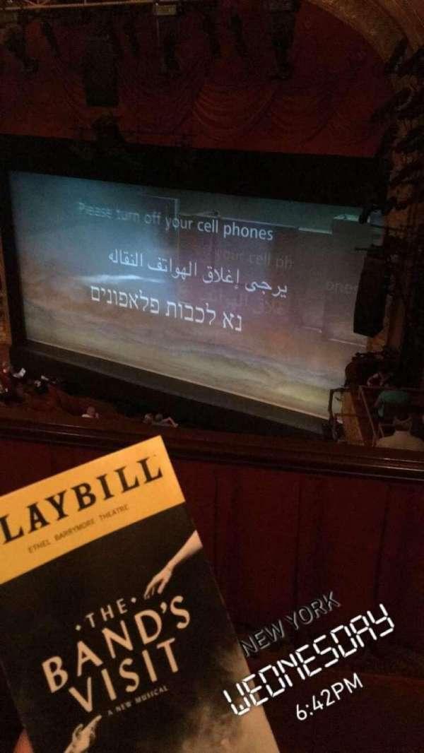 Ethel Barrymore Theatre, secção: RearMezRight, fila: A, lugar: 22