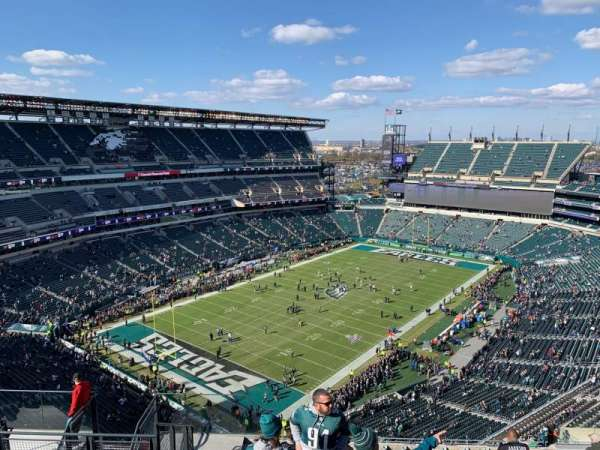Lincoln Financial Field, secção: 218, fila: 17, lugar: 14