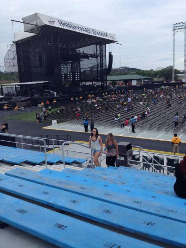 Hershey Park Stadium, secção: 7, fila: F, lugar: 25