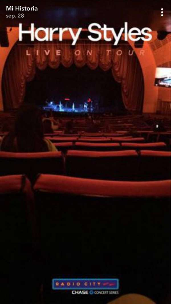 Radio City Music Hall, secção: 1ST Mezzanine 4, fila: K, lugar: 402
