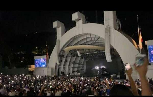 Hollywood Bowl, secção: D, fila: 13, lugar: 4