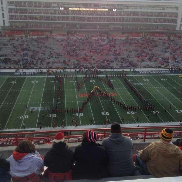 Maryland Stadium, secção: 305, fila: N, lugar: 13