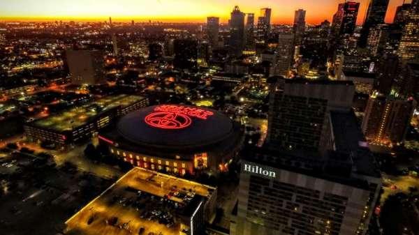 Toyota Center, secção: Aerial