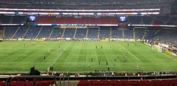 Gillette Stadium, secção: Cl8, fila: 10, lugar: 16