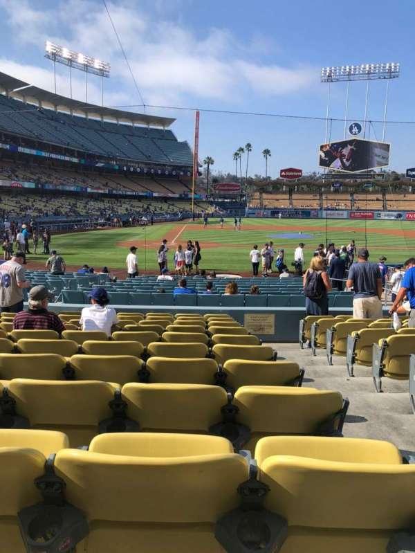 Dodger Stadium, secção: 10FD, fila: L, lugar: 10