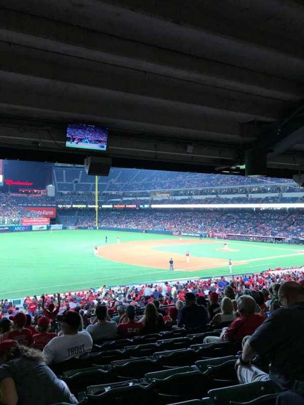Angel Stadium, secção: T208, fila: K, lugar: 1