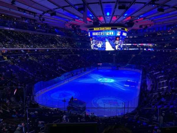 Madison Square Garden, secção: 219, fila: 2, lugar: 2