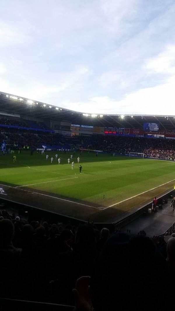 Cardiff City Stadium, secção: 121, fila: W, lugar: 75