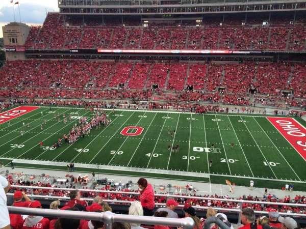 Ohio Stadium, secção: 20C, fila: 8, lugar: 5