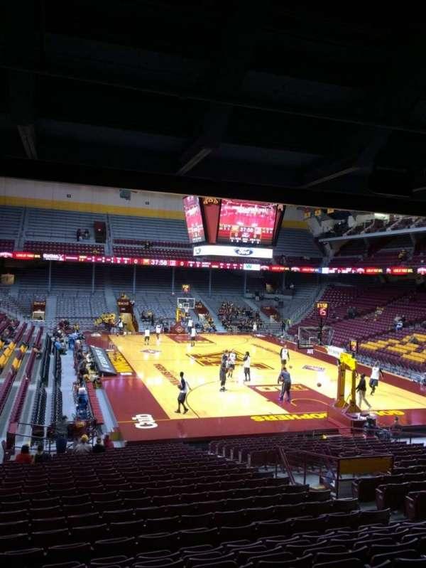 Williams arena, secção: 102, fila: 24, lugar: 9