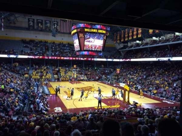 Williams Arena, secção: 102, fila: 23, lugar: 7