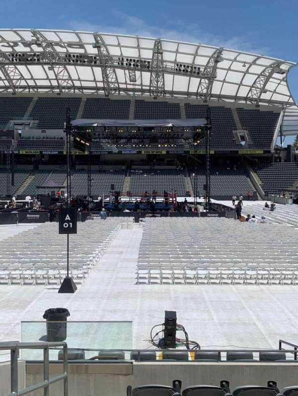 Banc of California Stadium, secção: 128, fila: D, lugar: 17