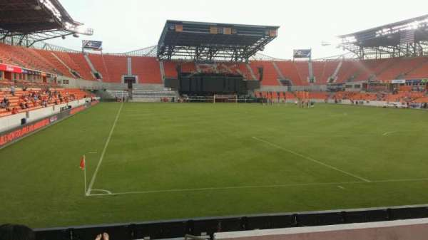 BBVA Stadium, secção: 118, fila: h, lugar: 1