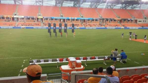 BBVA Stadium, secção: 108, fila: h, lugar: 1