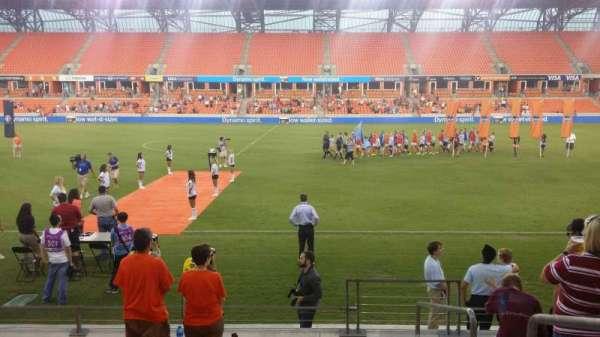 BBVA Stadium, secção: 106, fila: h, lugar: 1