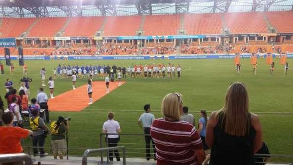BBVA Stadium, secção: 105, fila: g, lugar: 26