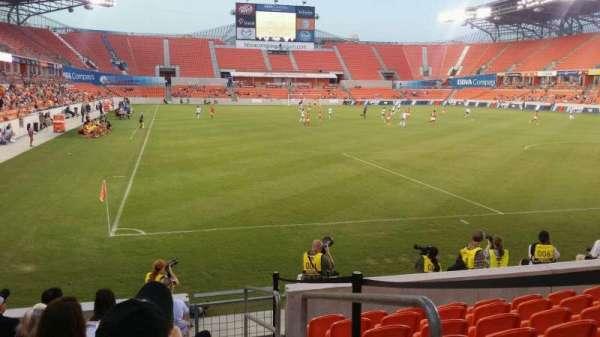BBVA Stadium, secção: 139, fila: h, lugar: 1