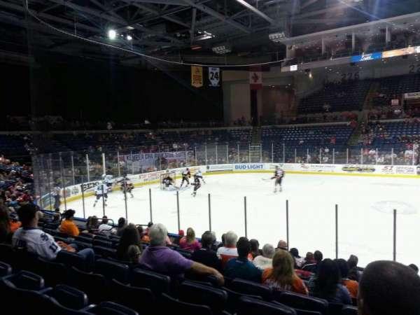 Stockton Arena, secção: 116, fila: 11, lugar: 5