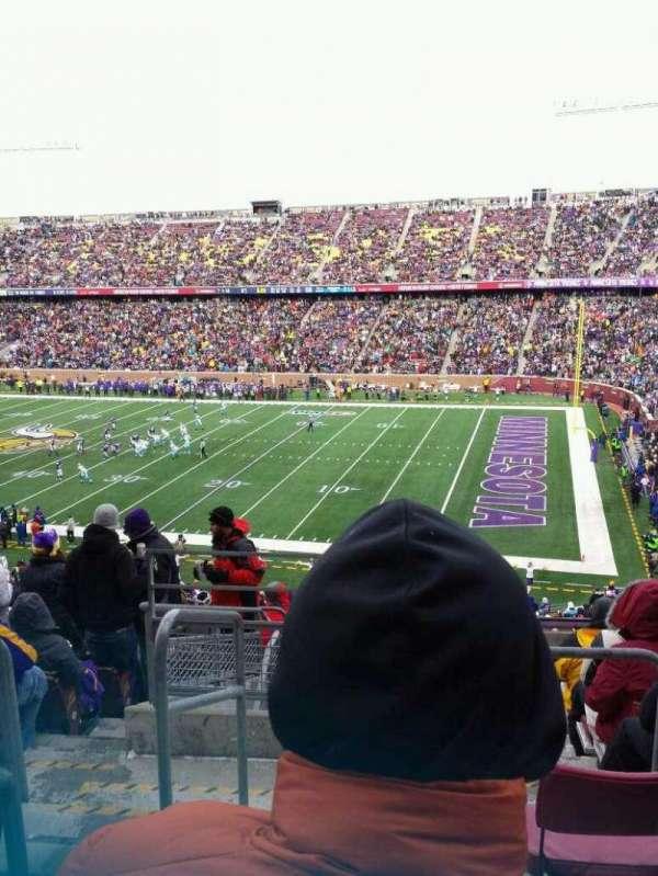 TCF Bank Stadium, secção: 235, fila: 11, lugar: 18