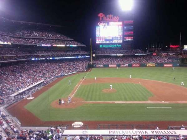 Citizens Bank Park, secção: 217, fila: 1, lugar: 3