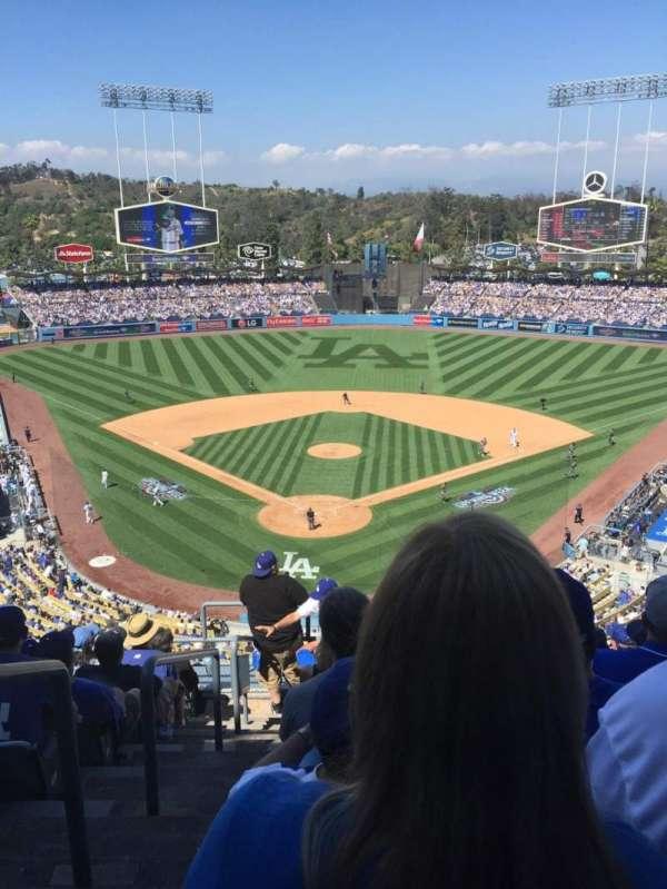 Dodger Stadium, secção: 2RS, fila: J, lugar: 1