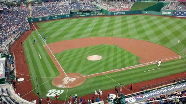 Nationals Park, secção: 316, fila: D, lugar: 7