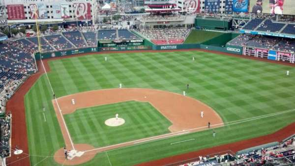 Nationals Park, secção: 416, fila: M, lugar: 8