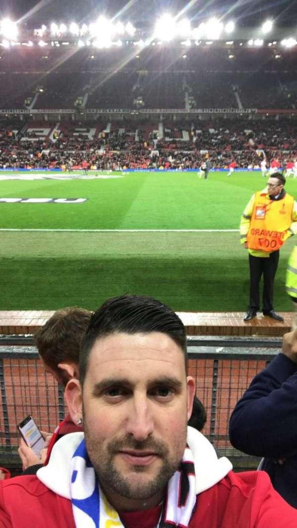 Old Trafford, secção: Sth, fila: Cc, lugar: 178