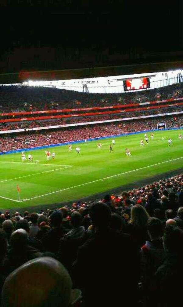 Emirates Stadium, secção: 120, fila: 12 , lugar: 7