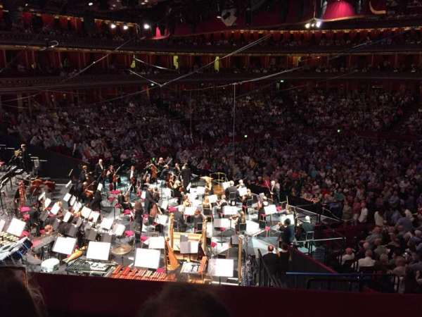 Royal Albert Hall, secção: Choir East, fila: 5, lugar: 12