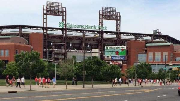 Citizens Bank Park, secção: Front, fila: Of , lugar: Park