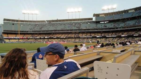 Dodger Stadium, secção: 45FD, fila: 4, lugar: 2