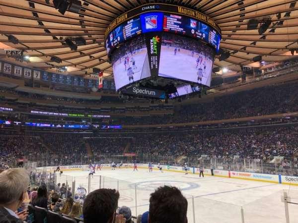 Madison Square Garden, secção: 109, fila: 8, lugar: 16