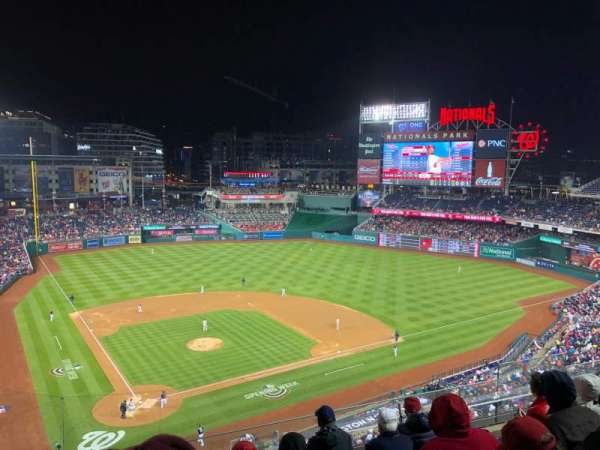 Nationals Park, secção: 316, fila: E, lugar: 10