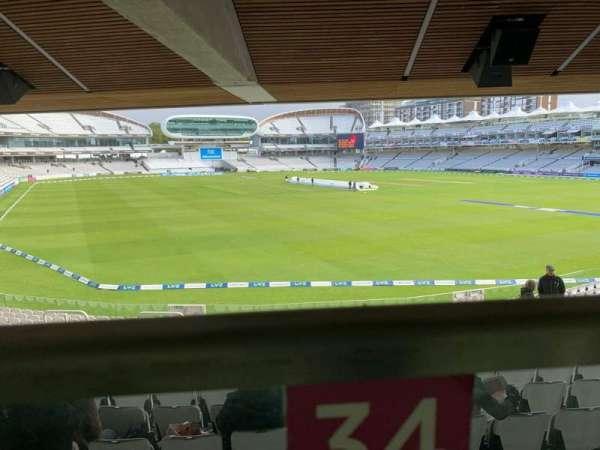 Lord's Cricket Ground, secção: Warner Stand, fila: Terrace Level 1, lugar: 34