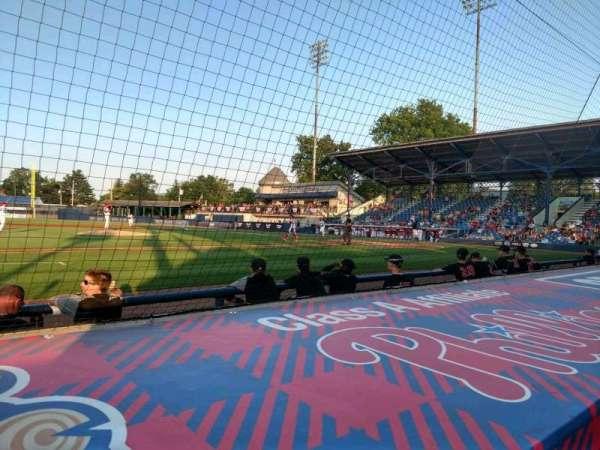 BB&T Ballpark at Historic Bowman Field, secção: O, fila: F, lugar: 8