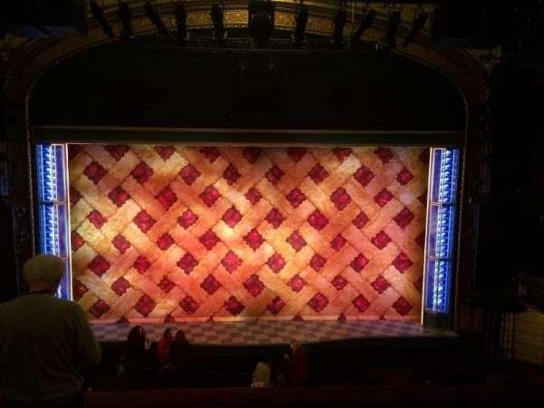Brooks Atkinson Theatre, secção: Front Mezzanine C, fila: D, lugar: 108