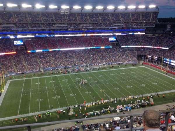 Gillette Stadium, secção: 324, fila: 10, lugar: 15