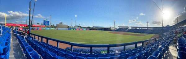 TD Ballpark, secção: 114, fila: 5, lugar: 10